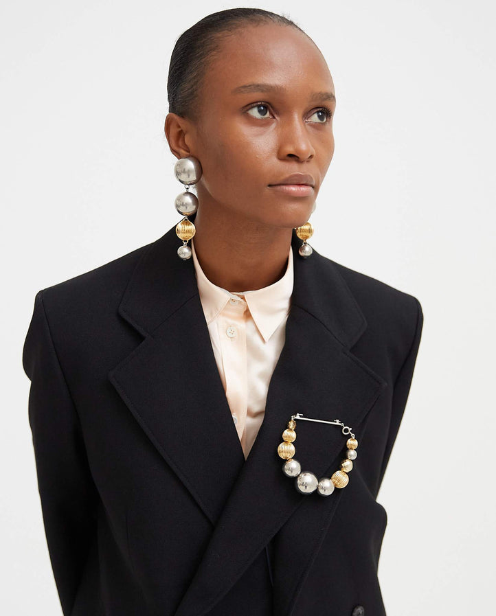Beaded Brooch - Silver / Gold WOMENS JW ANDERSON