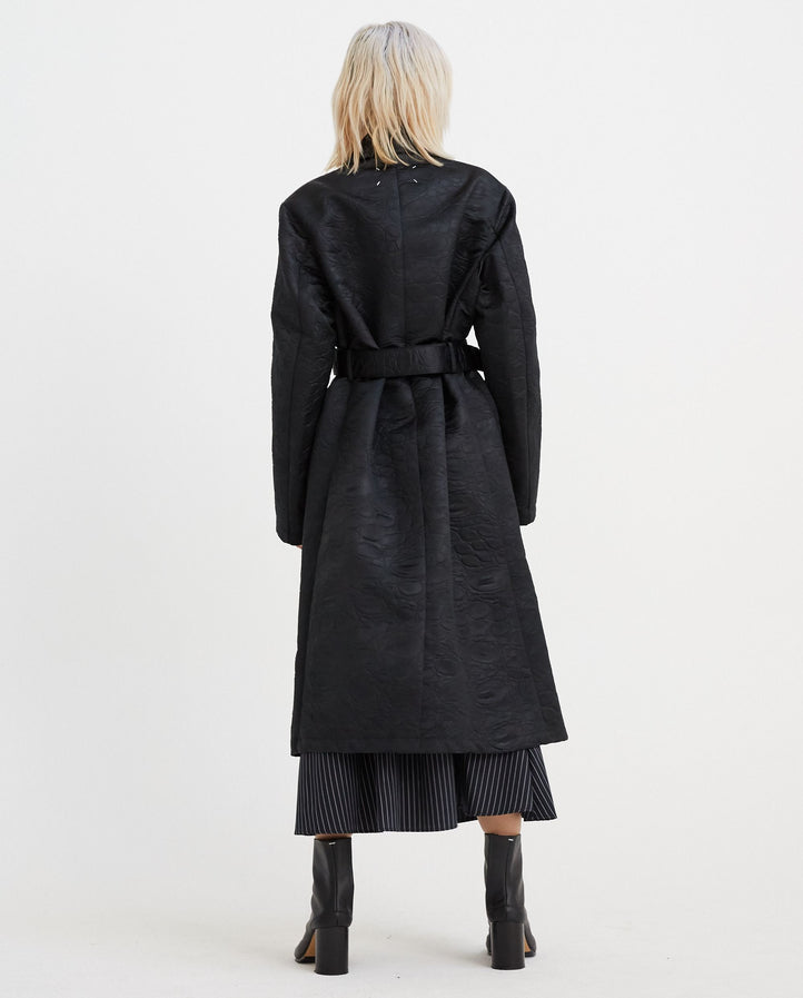Belted Trench Coat - Black WOMENS MAISON MARGIELA