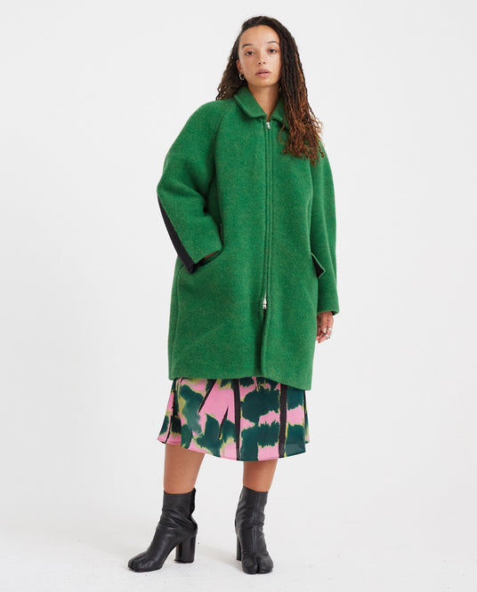 Blanket Zip Coat - Green WOMENS COLVILLE
