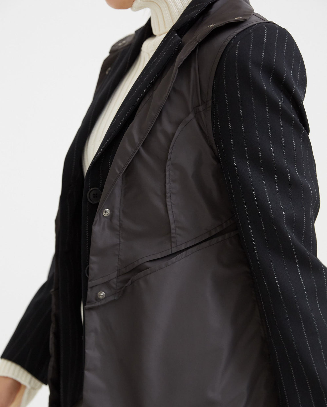 Blazer with Nylon Vest - Black WOMENS DELADA