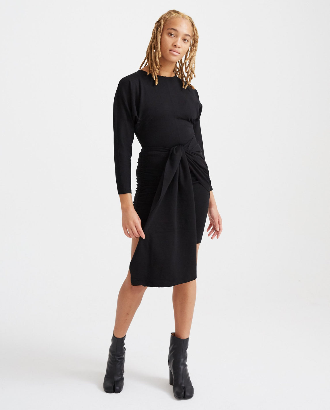 Bodycon Jersey Dress - Black WOMENS VEJAS