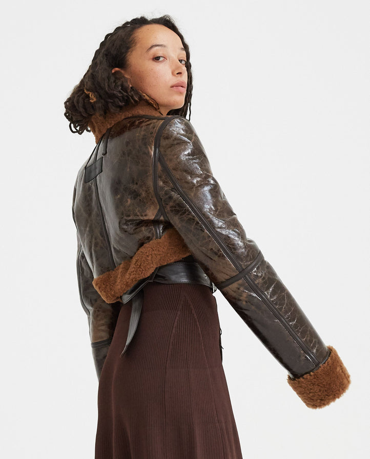 Bolero Jacket - Brown / Camel WOMENS PETER DO