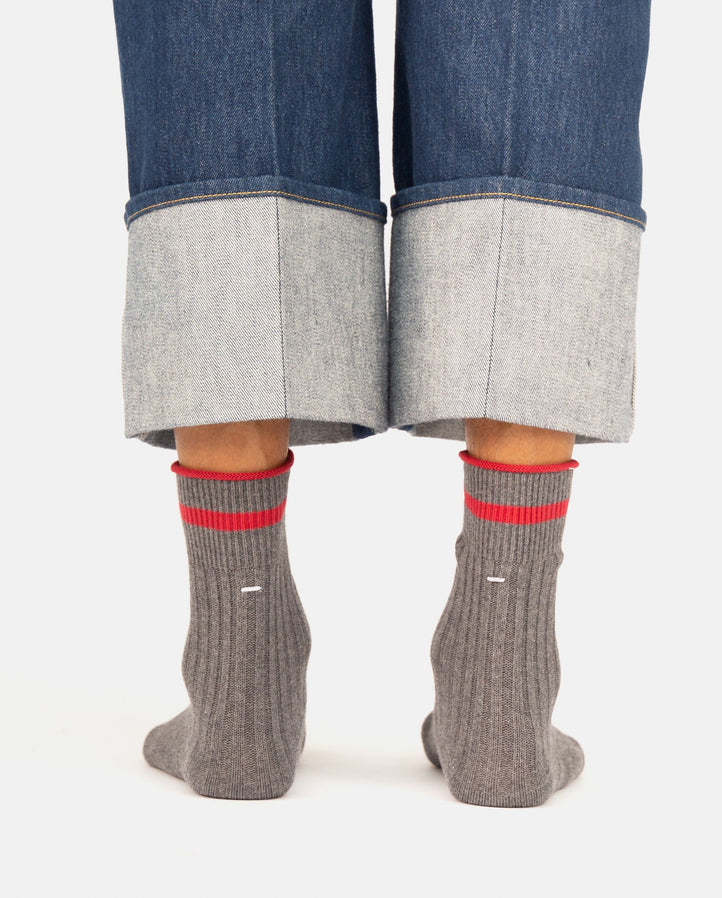 Bootleg Socks - Grey WOMENS MAISON MARGIELA