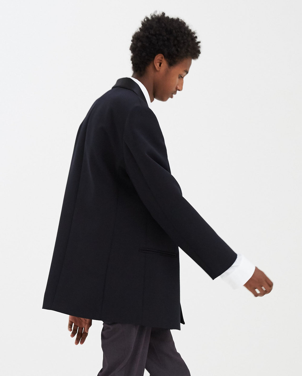 Boxy Smoking Blazer - Dark Navy MENS RAF SIMONS