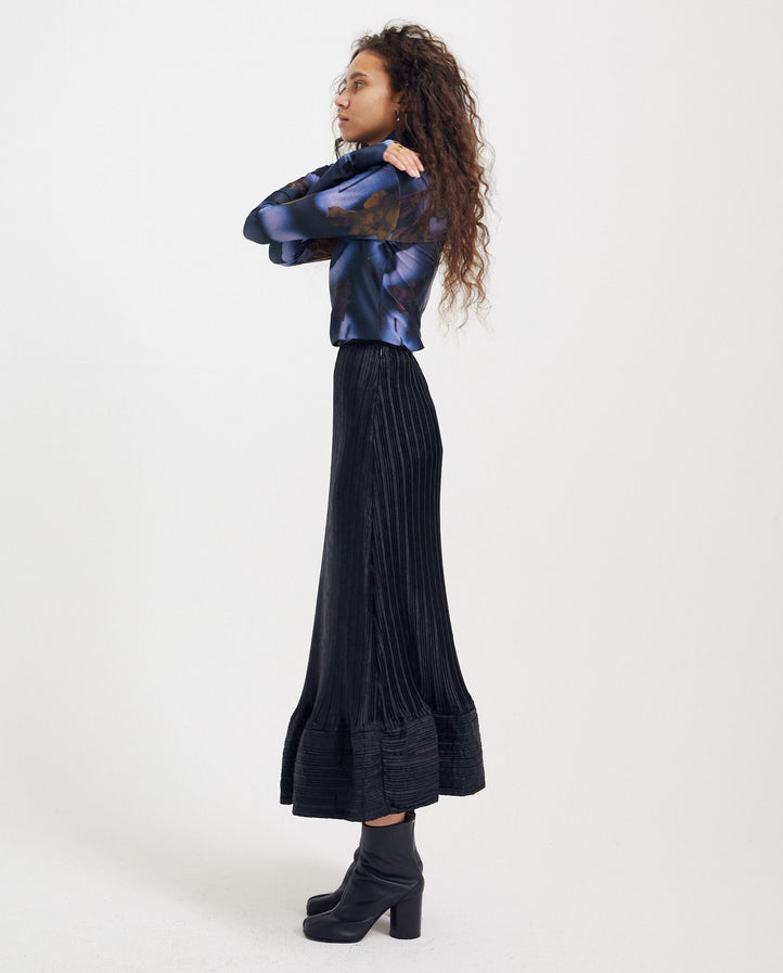 Bubble Hem Skirt - Black UNISEX JW ANDERSON