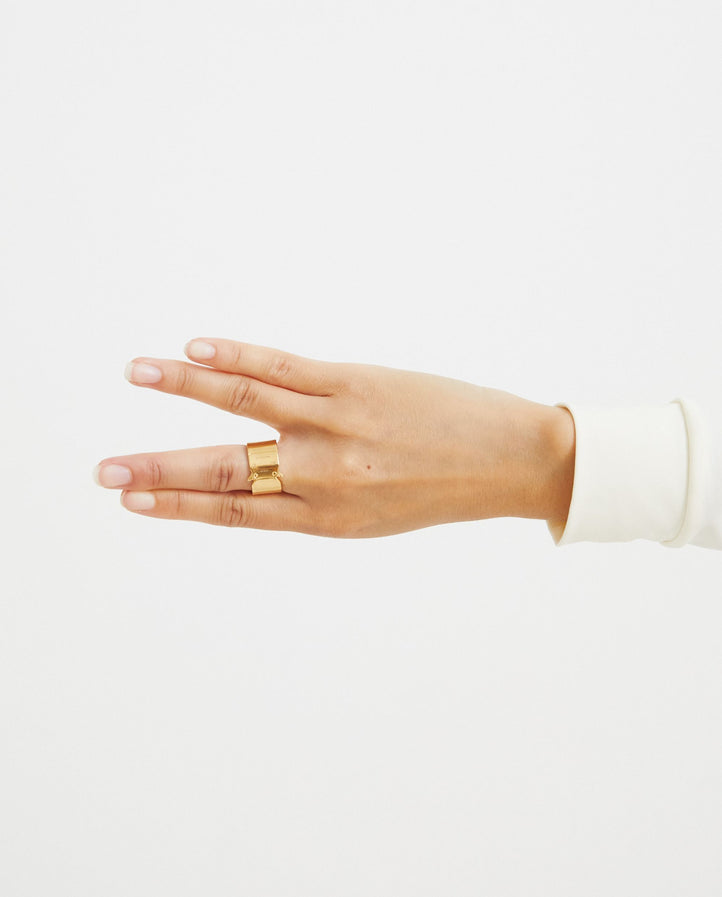 Buckle Ring - Gold UNISEX 1017 ALYX 9SM