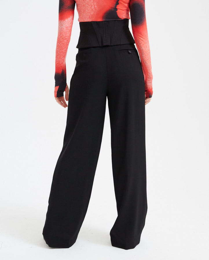 Bustier Trousers - Black WOMENS MUGLER