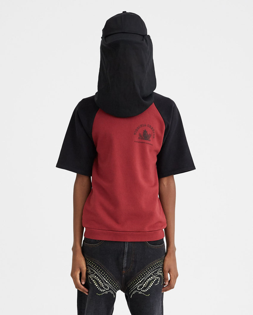 Cap With Net Face Protection - Black MENS RAF SIMONS