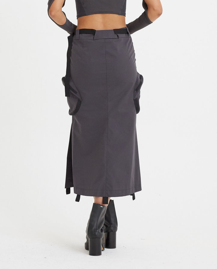 Cargo Skirt - Grey WOMENS HYEIN SEO