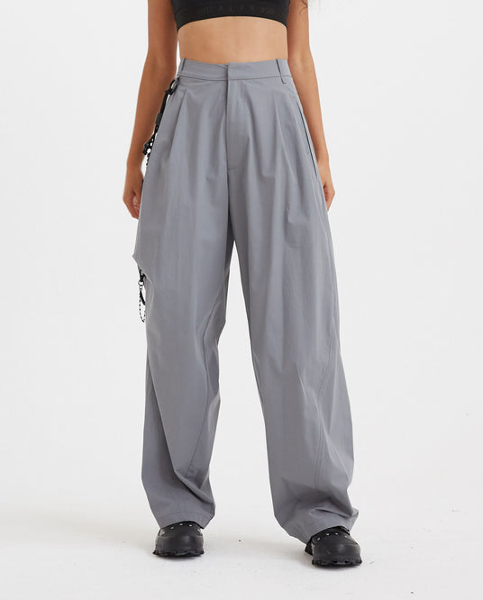 Chained Wide Pants - Ash Blue WOMENS HYEIN SEO