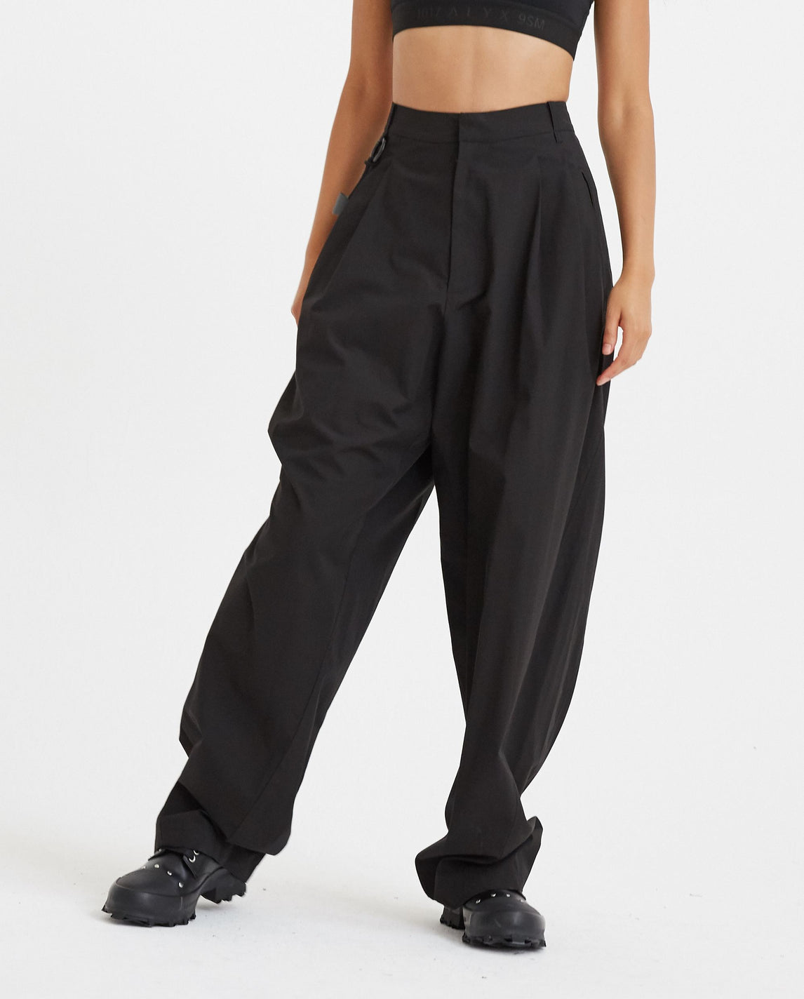 Chained Wide Pants - Black WOMENS HYEIN SEO