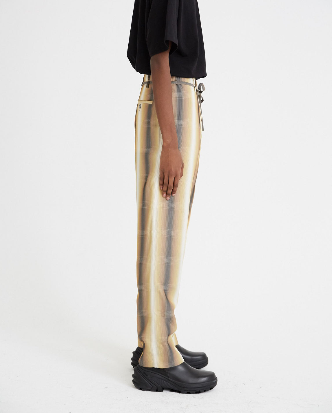 Check Print Trousers - Yellow MENS MARNI