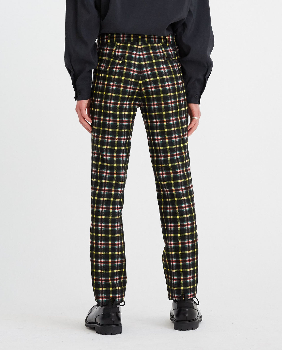 Check Trousers - Green/Black MENS HOMME PLUS