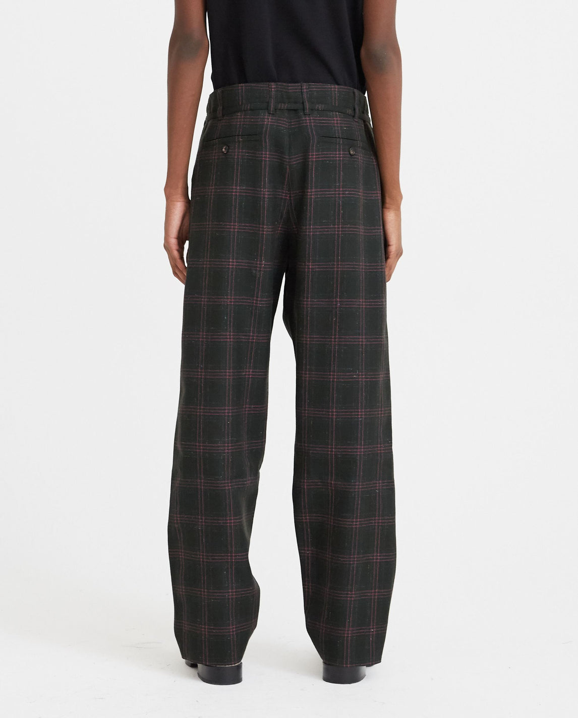 Checked Trousers - Black MENS MARNI