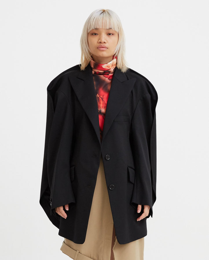 Circle Blazer - Black WOMENS MM6 MAISON MARGIELA