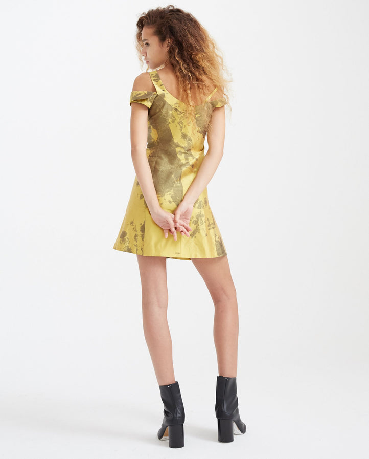 Cocktail Dress - Gold/Brown WOMENS OTTOLINGER