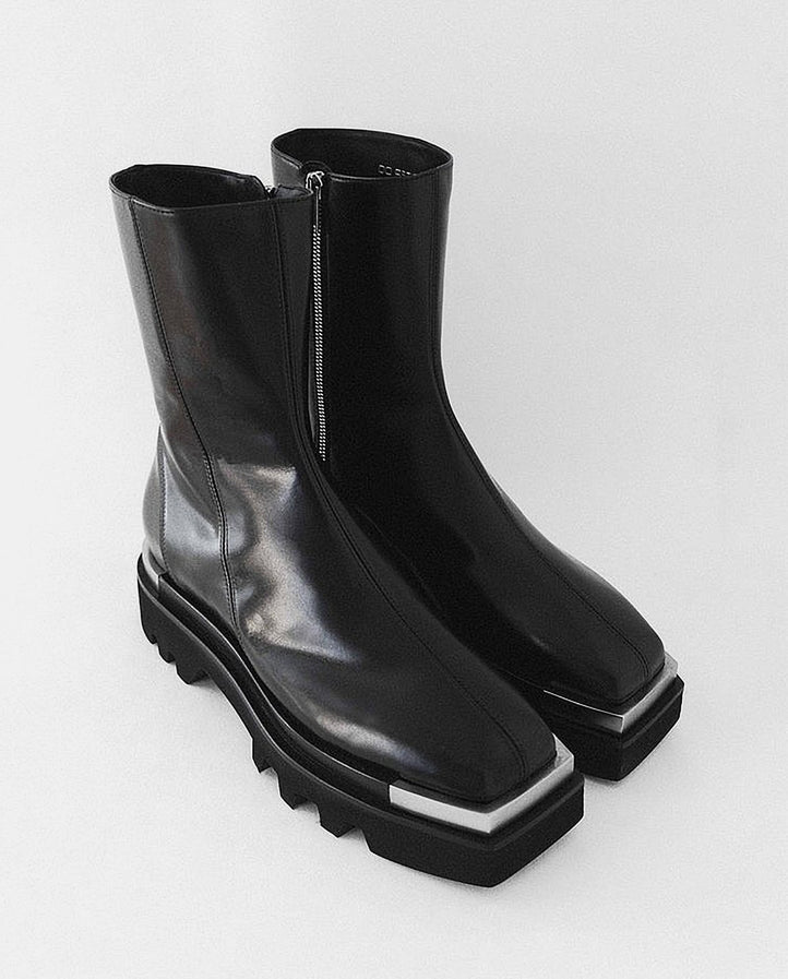 Combat Boot With Metal Tip - Black UNISEX PETER DO