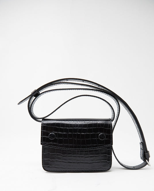 Croc Embossed Bag - Black MENS MAISON MARGIELA
