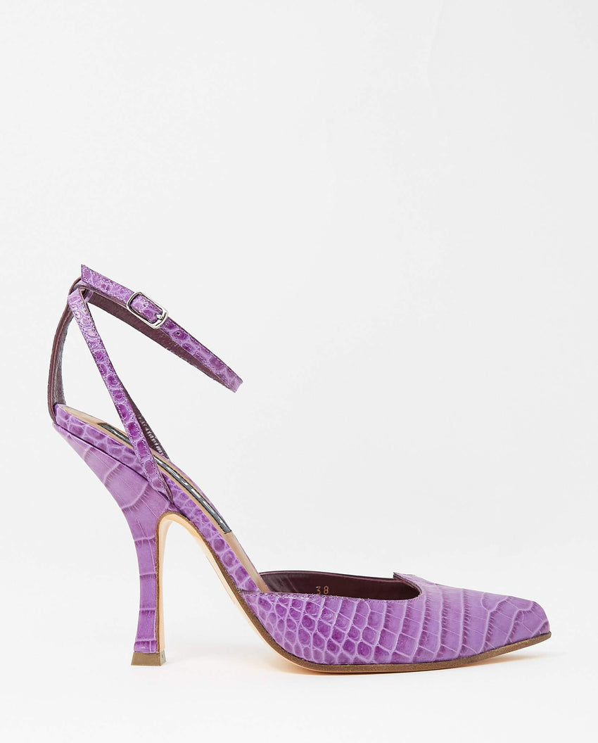 Croc-Embossed Lobster Heel - Purple UNISEX Y / PROJECT