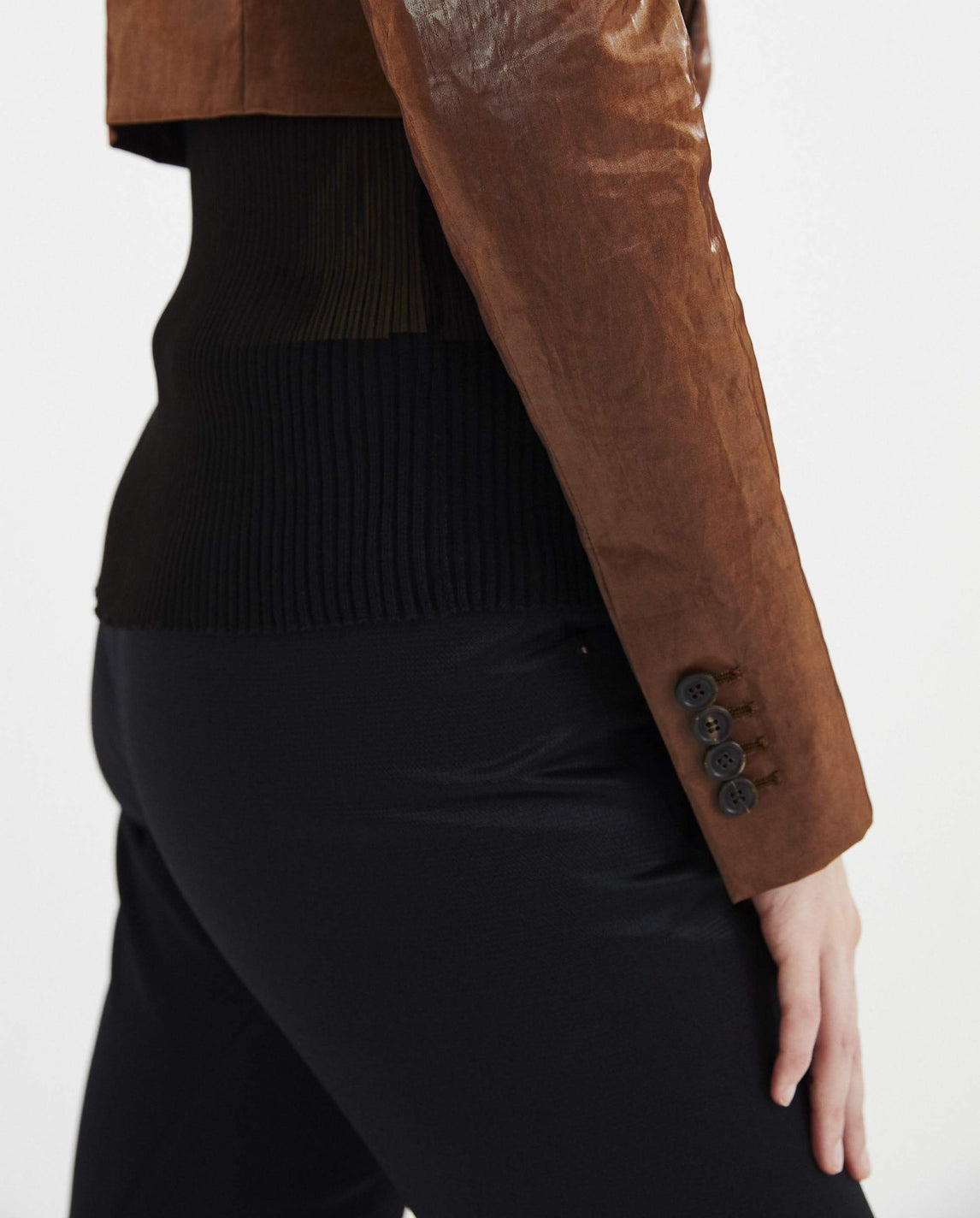Cropped Blazer - Tobacco Brown WOMENS Y/PROJECT
