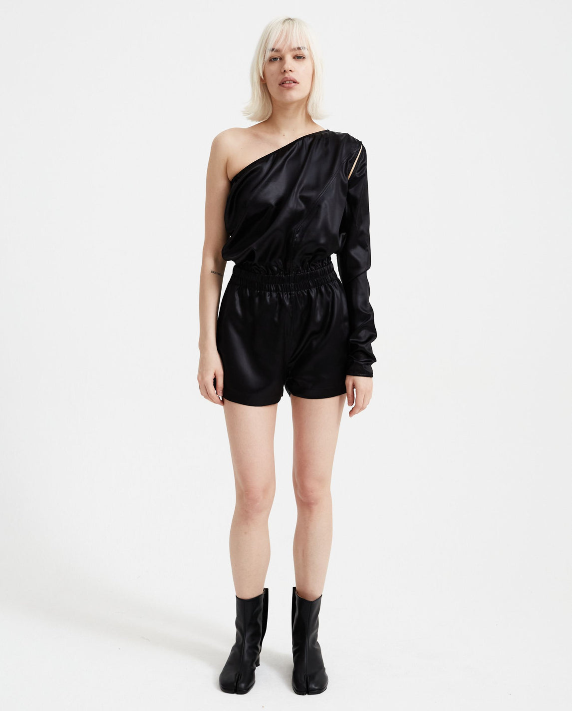 Cropped Flightsuit - Black WOMENS RICK OWENS