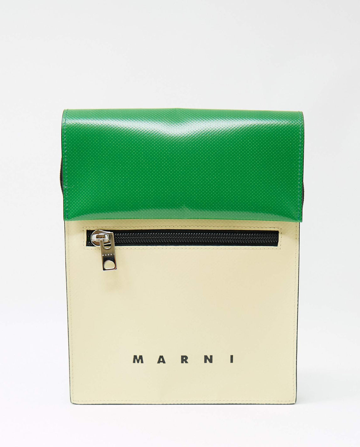 Crossbody Shoulder Bag - Green / Off White UNISEX MARNI