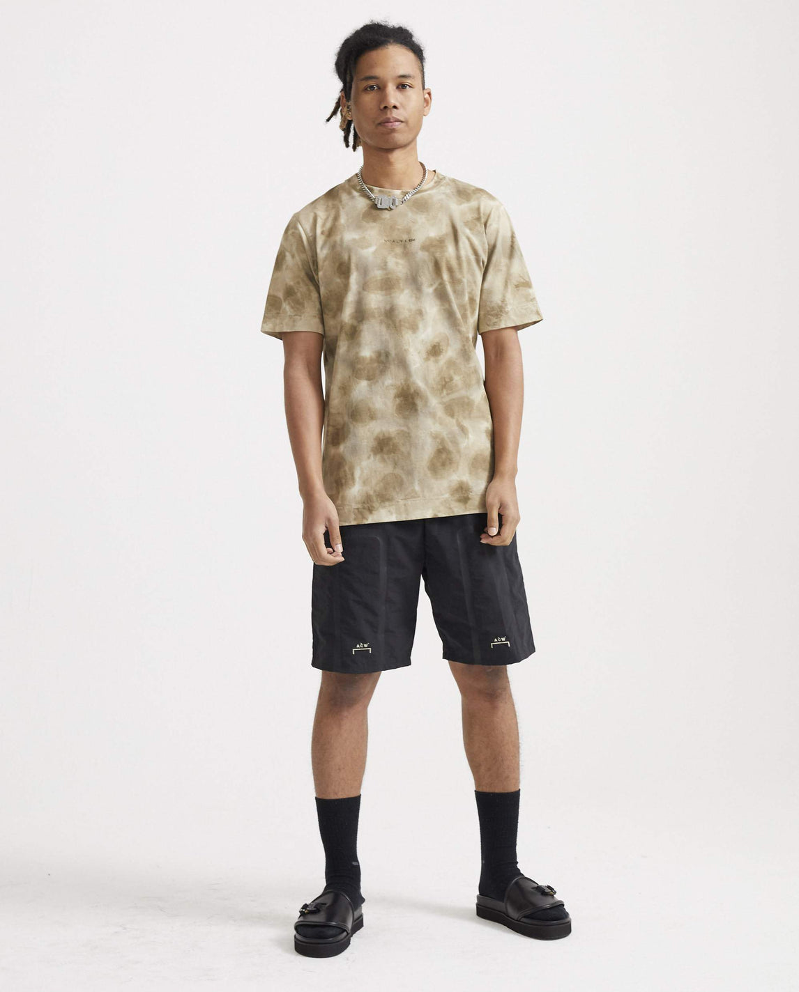 Cut-Out Graphic Print T-Shirt - Dark Sand MENS 1017 ALYX 9SM