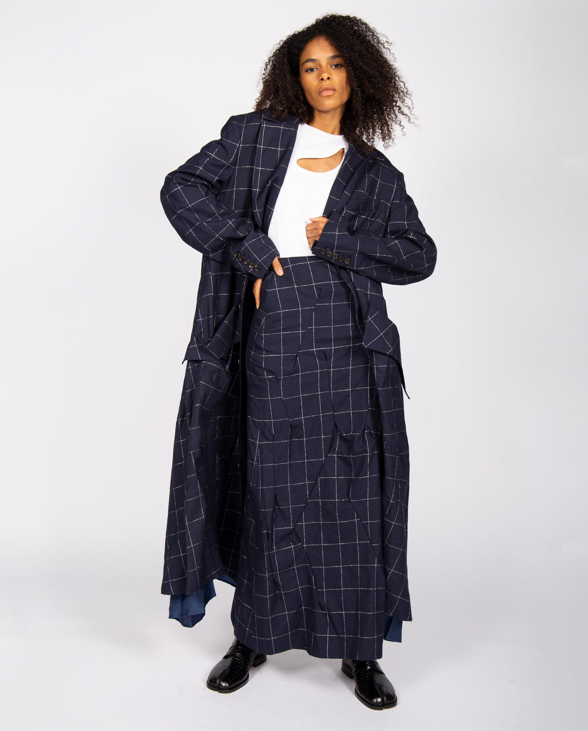 Darts Long Coat - Navy UNISEX SULVAM
