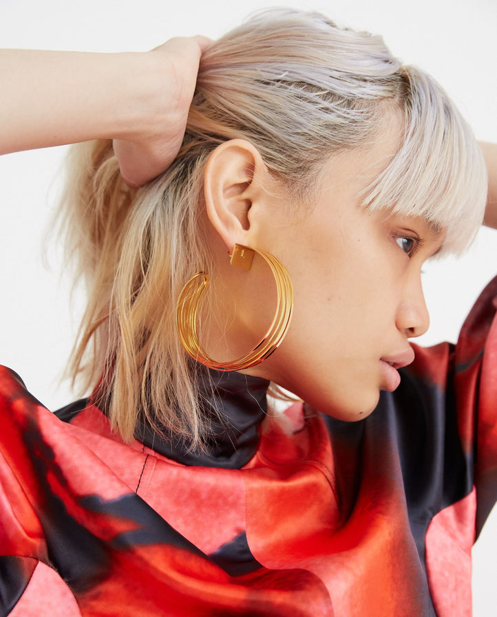 Deconstructed Hoop Earrings - Gold WOMENS Y/PROJECT