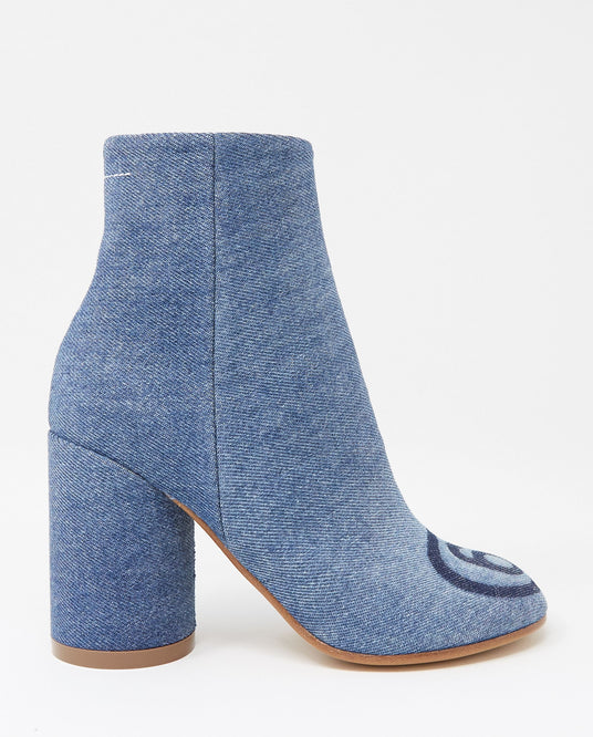 Denim Ankle Boot - Blue WOMENS MM6 MAISON MARGIELA