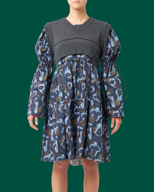 Doll Dress with Knit - Blue/Black UNISEX DELADA