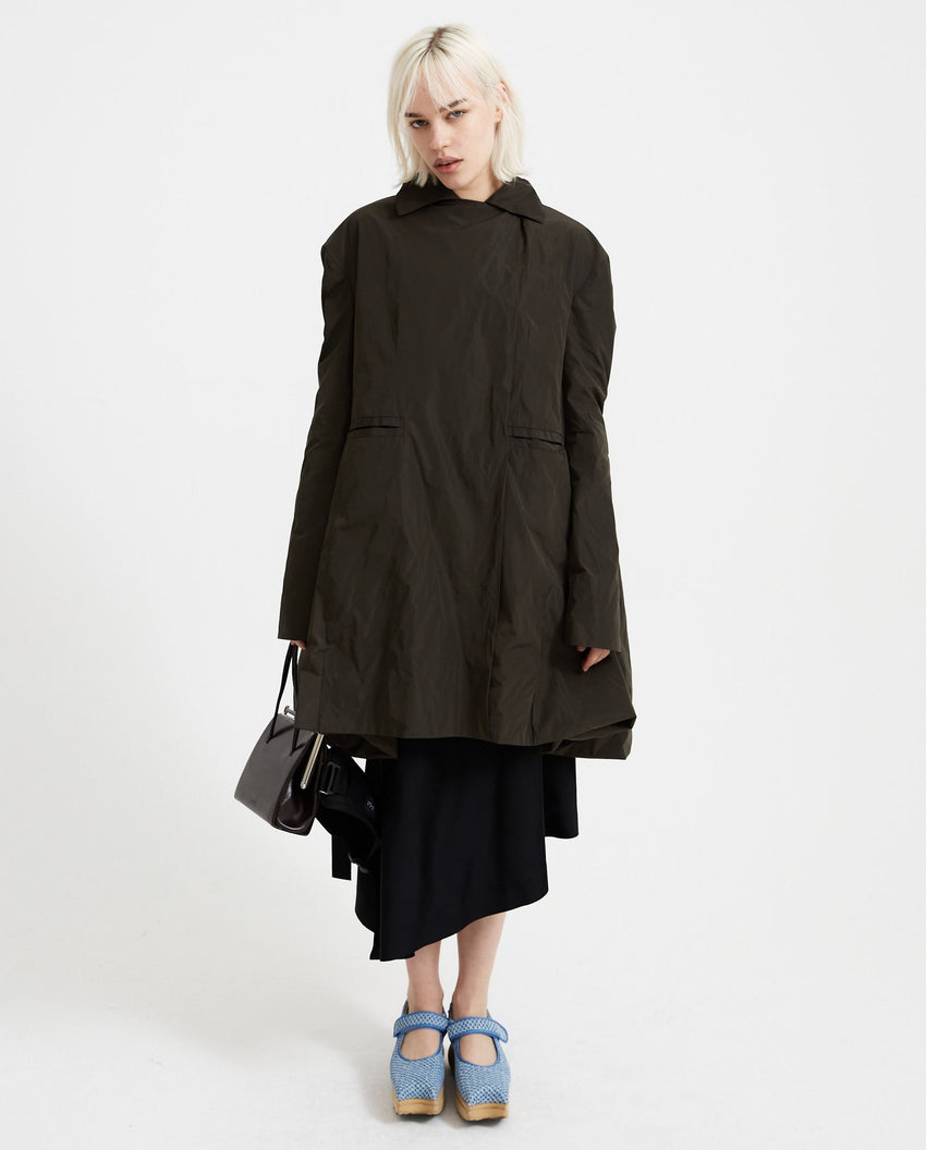 Double Breasted Car Coat - Olive WOMENS JOHANNA PARV