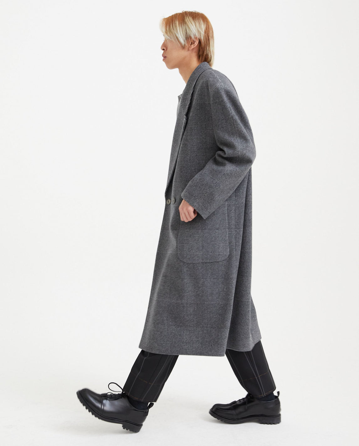 Double Breasted Coat - Grey MENS FEAR OF GOD X ZEGNA