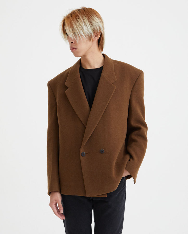 Double Breasted Over Jacket - Vicuna MENS FEAR OF GOD X ZEGNA