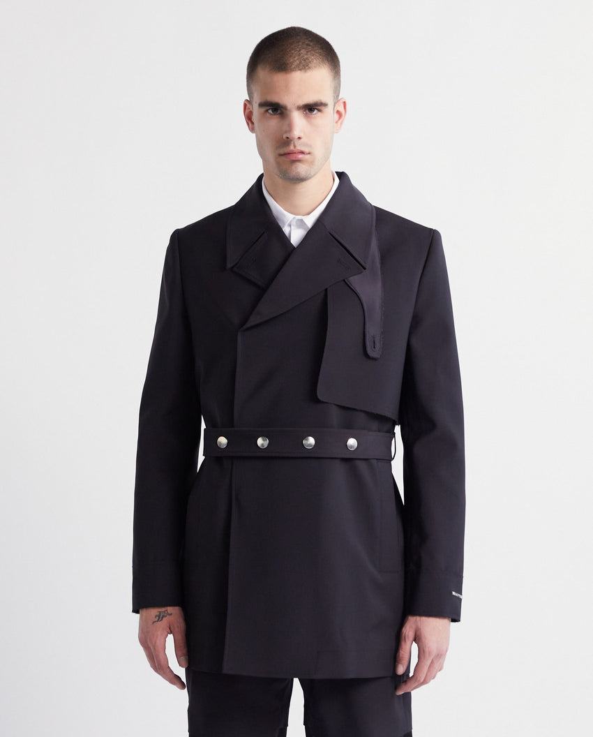 Double Breasted Trench Coat - Black MENS 1017 ALYX 9SM