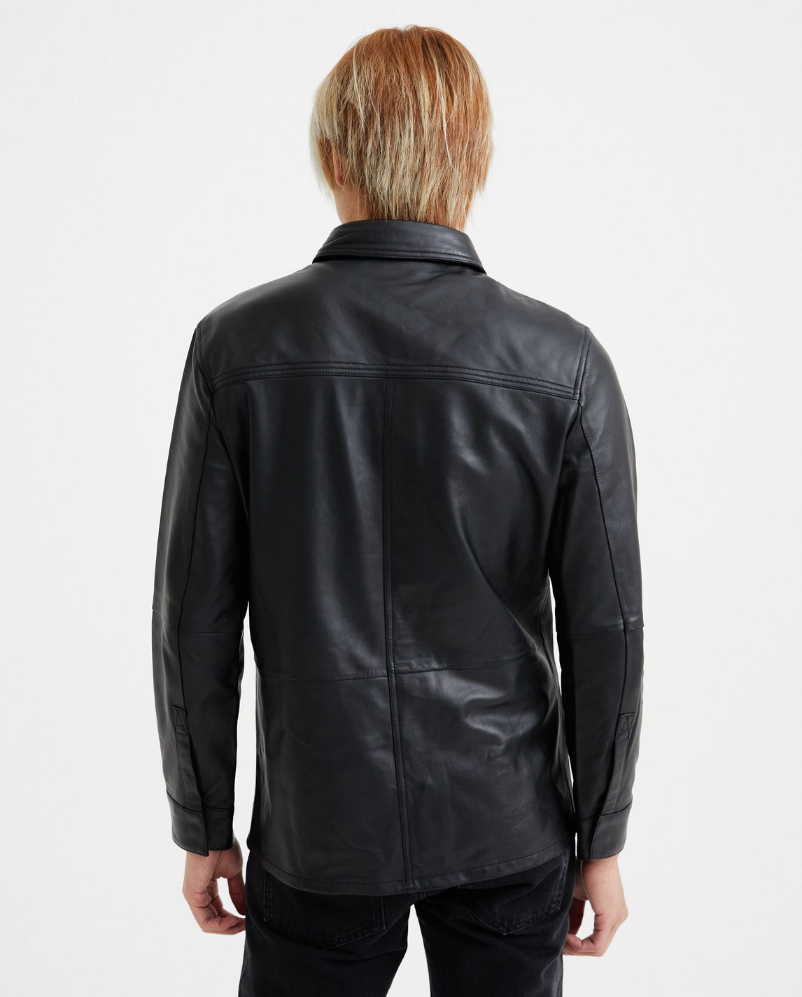 Drake Leather Shirt - Black MENS 1017 ALYX 9SM