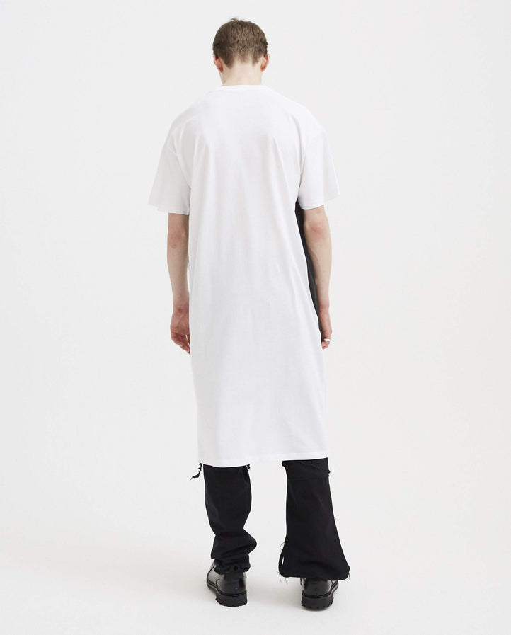 Elongated Labo T-Shirt Full Black Smiley - White MENS RAF SIMONS