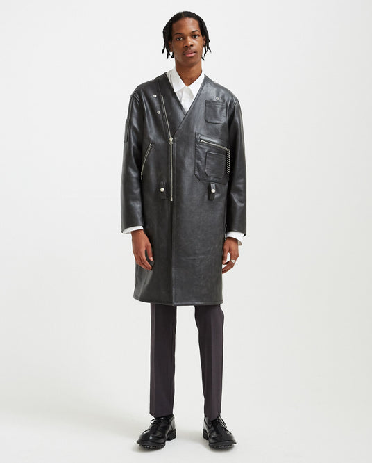 Elongated Perfecto - Black MENS RAF SIMONS