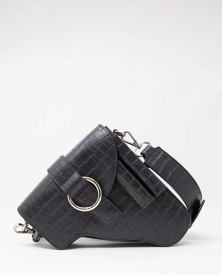 Embossed Not A Gun Bag - Black UNISEX Private Policy