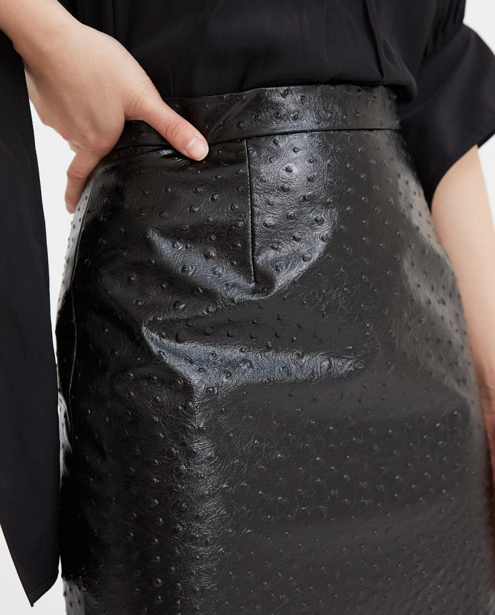 Embossed Skirt - Black WOMENS MAISON MARGIELA