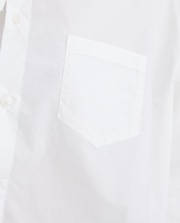 Embroidered Shirt - White WOMENS MM6 MAISON MARGIELA