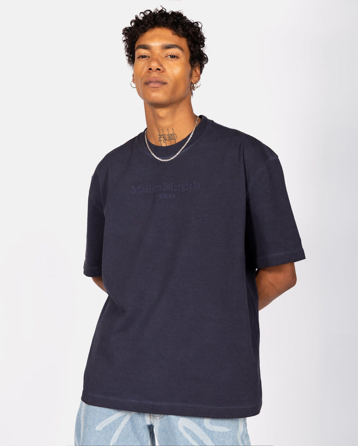 Embroidered T-Shirt - Navy MENS MAISON MARGIELA