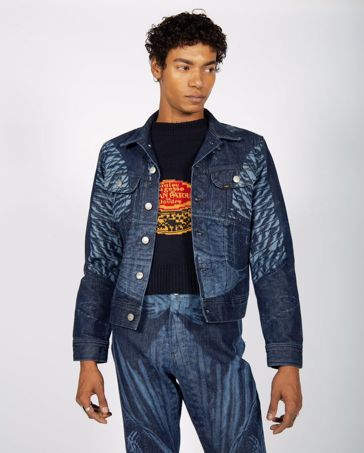 Etched Denim Jacket - Indigo UNISEX STEFAN COOKE