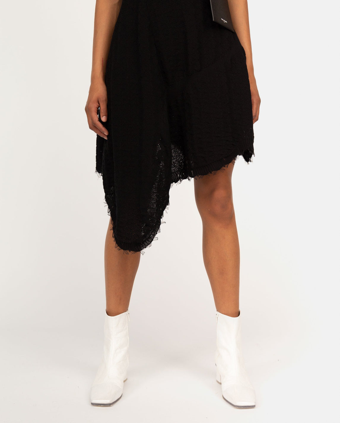 Evolved Crochet Knit Dress - Black WOMENS VEJAS