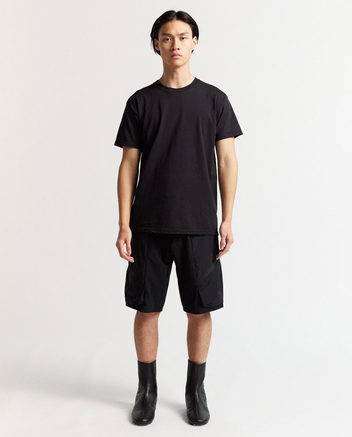 Eye Embroidery Fringe T-Shirt - Black MENS GOOMHEO