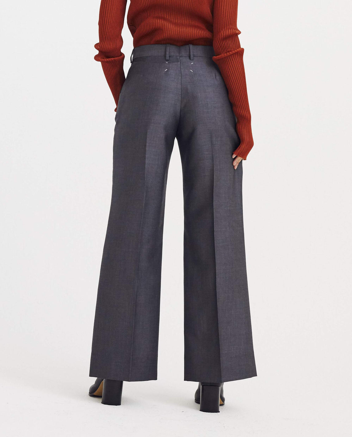 Flared Pants - Grey WOMENS MAISON MARGIELA
