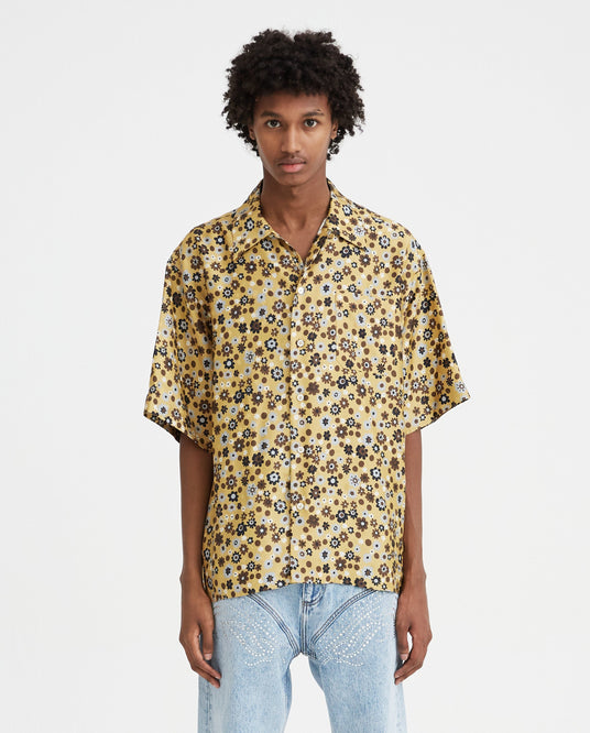 Floral Shirt - Gold MENS MARNI