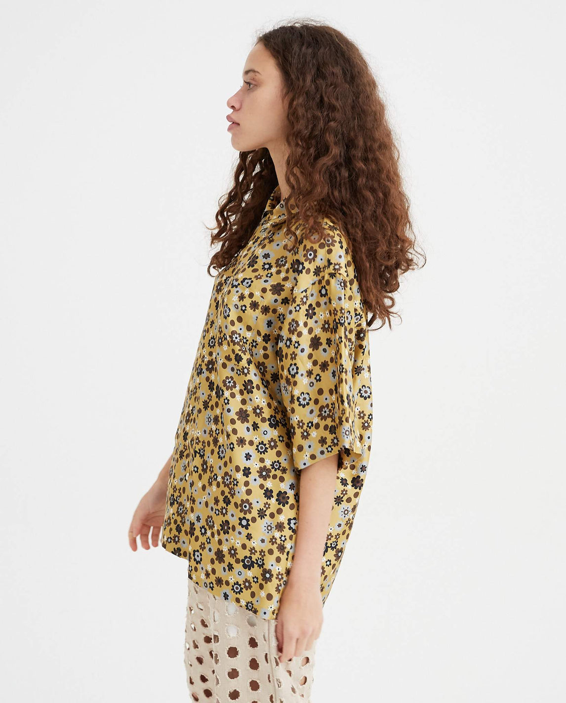 Floral Shirt - Gold UNISEX MARNI