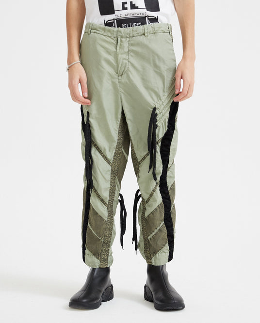 Flower Diamond Trousers - Olive MENS CRAIG GREEN