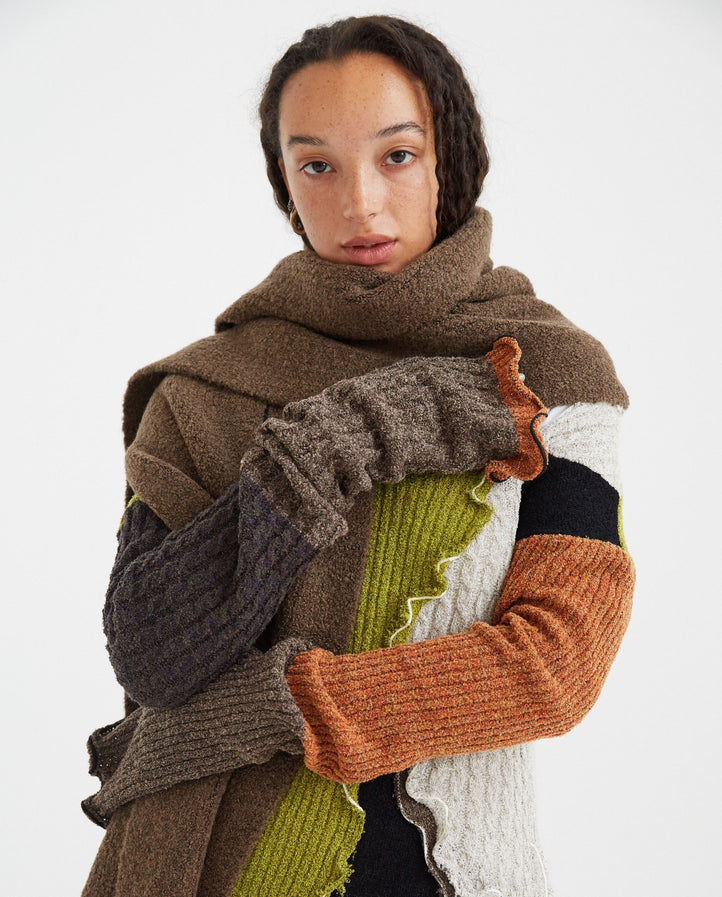 Fluffy Scarf - Dark Natural UNISEX PETER DO